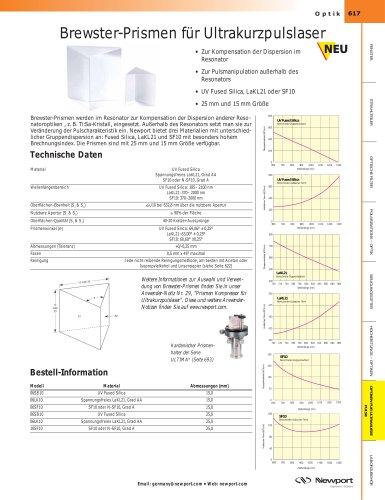 Brewster-Prismen für Ultrakurzpulslaser