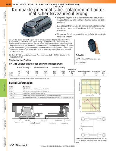CM-225 Kompakte pneumatische Isolatoren mit auto- matischer Niveauregulierung