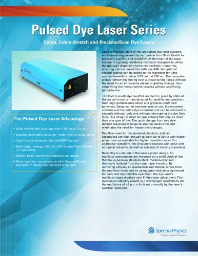 Cobra, Cobra-Stretch and PrecisionScan Dye Lasers Series
