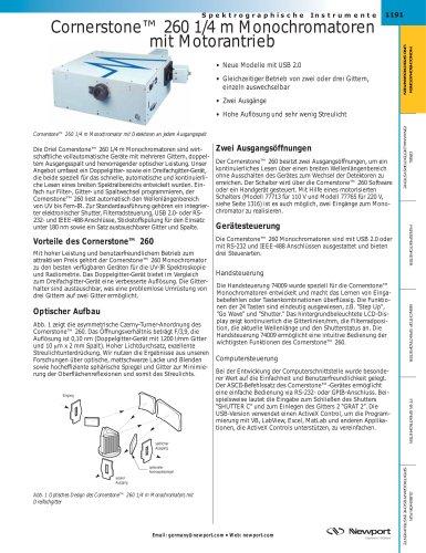 Cornerstone™ 260 1/4 m Monochromatoren mit Motorantrieb