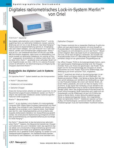 Digitales radiometrisches Lock-in-System Merlin™ von Oriel