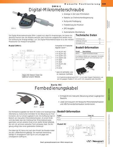 DMH-1 Digital-Mikrometerschraube, Fernbedienungskabel