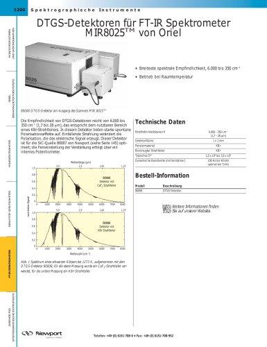 DTGS-Detektoren für FT-IR Spektrometer MIR8025TM von Oriel
