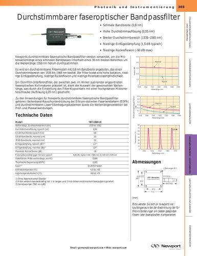 Durchstimmbarer faseroptischer Bandpassfilter