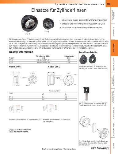 Einsätze für Zylinderlinsen