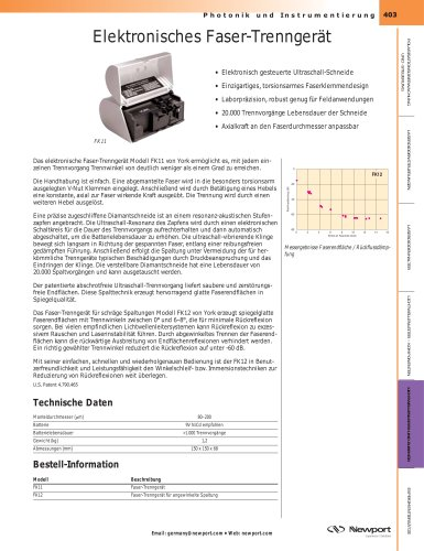 Elektronisches Faser-Trenngerät