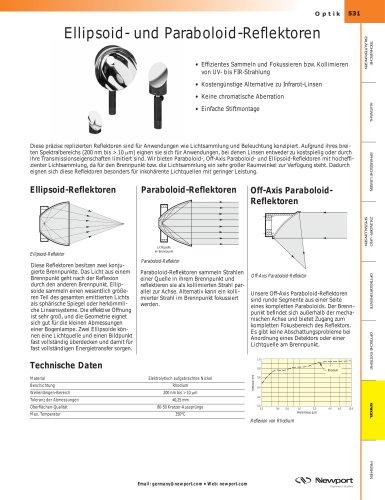 Ellipsoid- und Paraboloid-Reflektoren