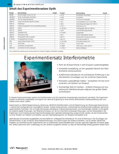 Experimentiersatz Interferometrie