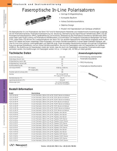 Faseroptische In-Line Polarisatoren