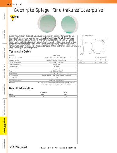 Gechirpte Spiegel für ultrakurze Laserpulse