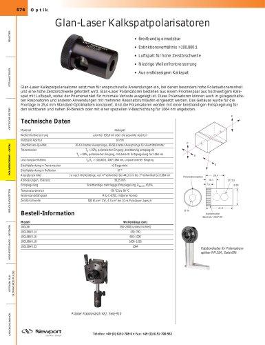 Glan-Laser Kalkspatpolarisatoren