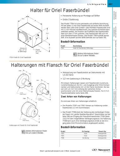 Halter für Oriel Faserbündel, Halterungen mit Flansch für Oriel Faserbündel