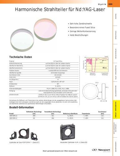Harmonische Strahlteiler für Nd:YAG-Laser