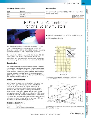 Hi Flux Beam Concentrator for Solar Simulators