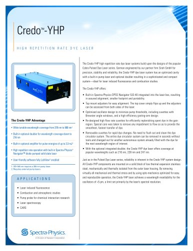 High repetition rate dye laser-Credo™-YHP