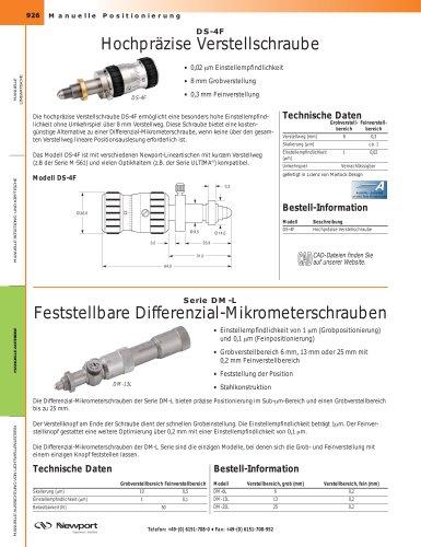 Hochpräzise Verstellschraube, Feststellbare Differenzial-Mikrometerschrauben