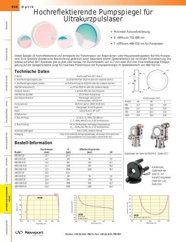 Hochreflektierende Pumpspiegel für  Ultrakurzpulslaser