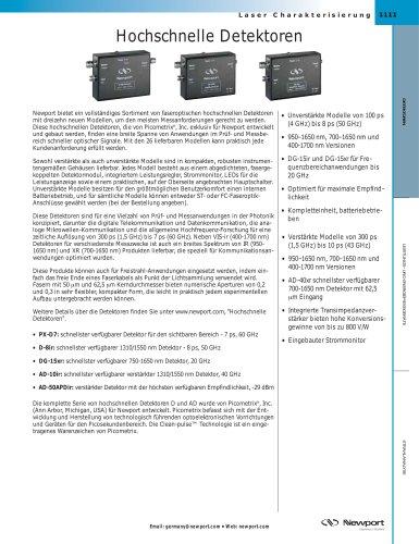 Hochschnelle Detektoren