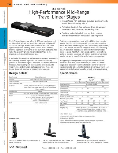 ILS Series High-Performance Mid-Range Travel Linear Stages