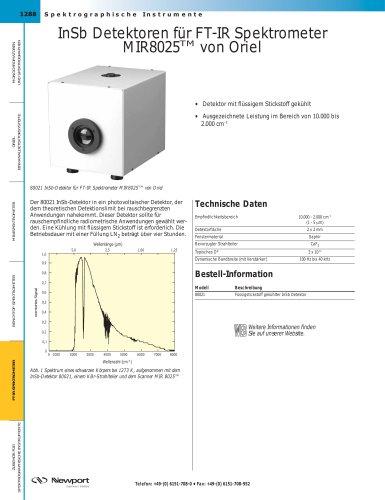 InSb Detektoren für FT-IR Spektrometer MIR8025TM von Oriel