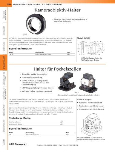 Kameraobjektiv-Halter, Halter für Pockelszellen
