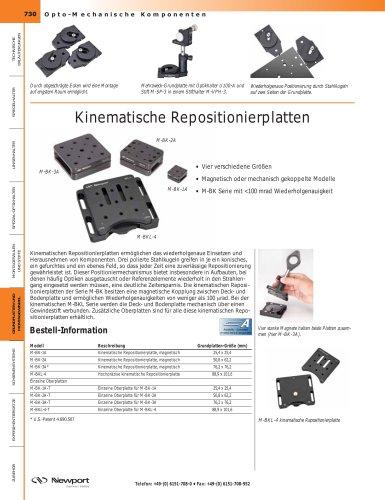 Kinematische Repositionierplatten