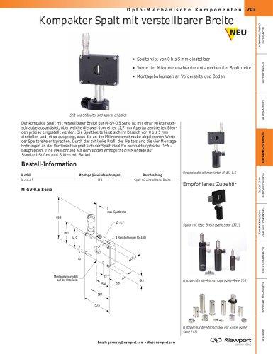 Kompakter Spalt mit verstellbarer Breite