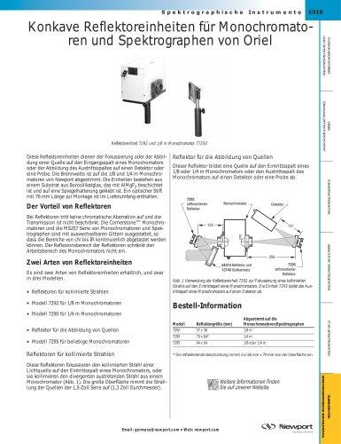 Konkave Reflektoreinheiten für Monochromato- ren und Spektrographen von Oriel