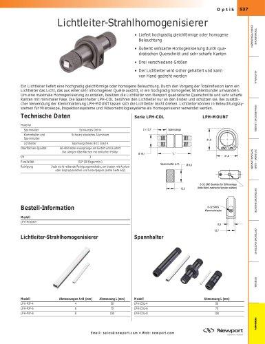 Lichtleiter-Strahlhomogenisierer