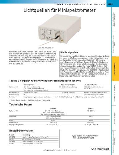 Lichtquellen für Minispektrometer