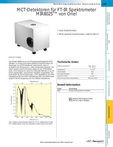 MCT-Detektoren für FT-IR Spektrometer MIR8025TM von Oriel