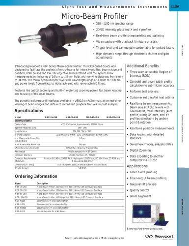 Micro-Beam Profiler
