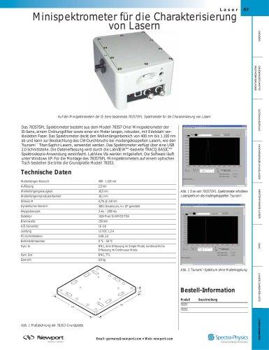 Minispektrometer für die Charakterisierung  von Lasern