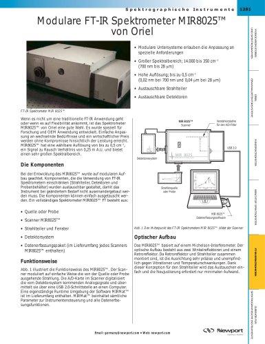 Modulare FT-IR Spektrometer MIR8025™  von Oriel