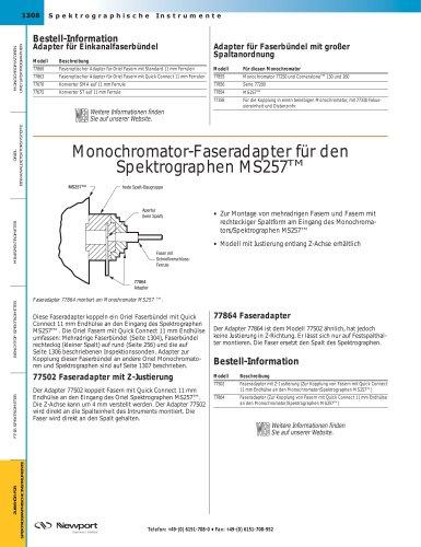 Monochromator-Faseradapter für den  Spektrographen MS257TM