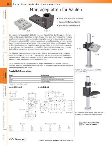 Montageplatten für Säulen