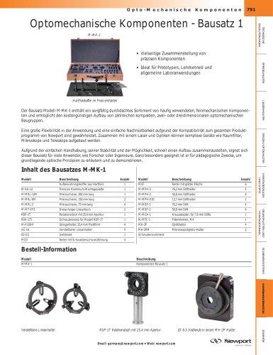 Optomechanische Komponenten - Bausatz 1