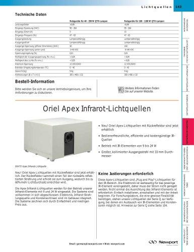 Oriel Apex Infrarot-Lichtquellen