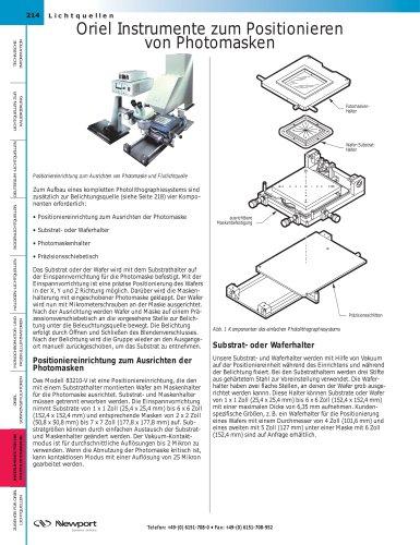 Oriel Instrumente zum Positionieren  von Photomasken
