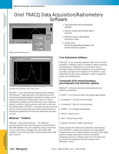 Oriel TracQ Basic Data Acquisition/Radiometery Software