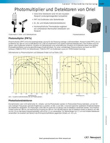 Photomultiplier und Detektoren von Oriel