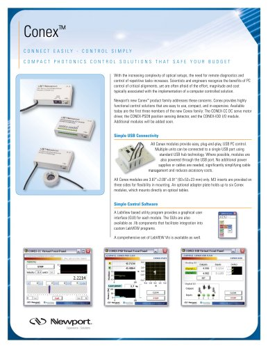 Photonics Control Devices, Conex™