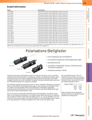 Polarisations-Stellglieder