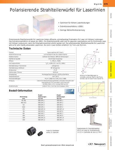 Polarisierende Strahlteilerwürfel für Laserlinien