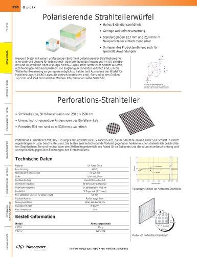 Polarisierende Strahlteilerwürfel, Perforations-Strahlteiler