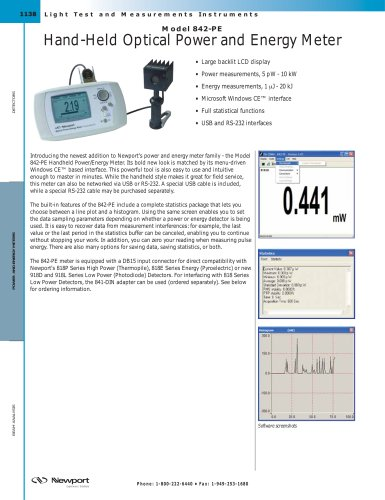 Portable Optical Power Meter, 842-PE