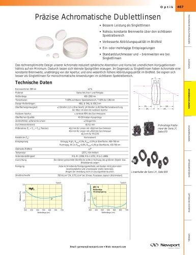 Präzise Achromatische Dublettlinsen