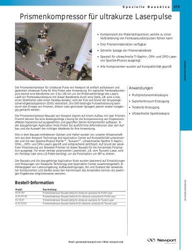 Prismenkompressor für ultrakurze Laserpulse