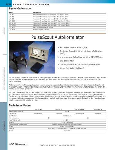 PulseScout Autokorrelator