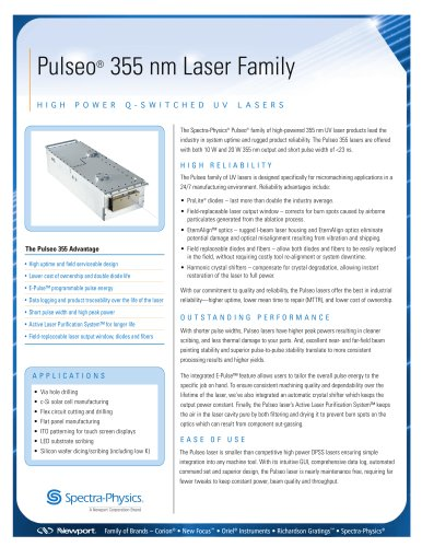 Q-Switched UV Lasers- Pulseo® 355 nm Laser Family